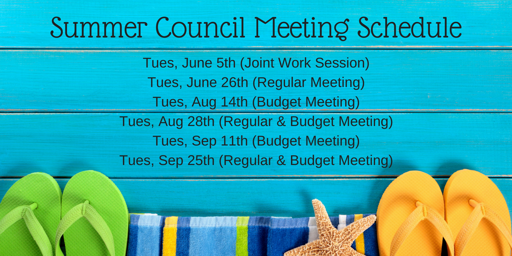 Summer Meeting Schedule